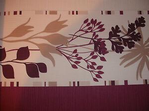 details about luxury designer wallpaper border white purple plum