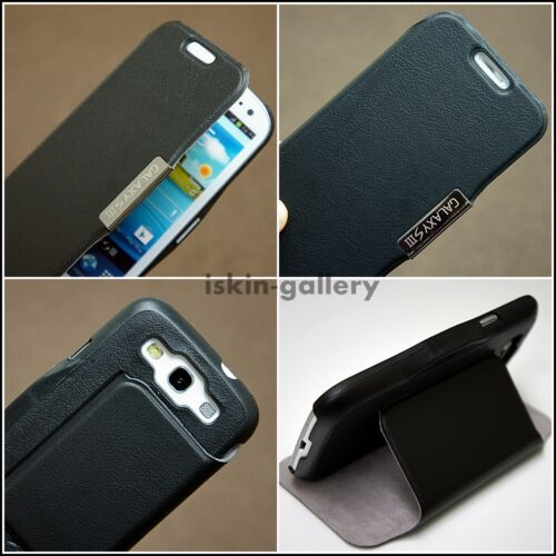 Luxury Flip Leather Stand Black Case Cover For Samsung Galaxy S3 SIII+S.G Film in Cell Phones & Accessories, Cell Phone Accessories, Cases, Covers & Skins | eBay