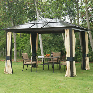 luxus alu pavillon partyzelt gartenzelt mit lichtdurchl ssigem pc. Black Bedroom Furniture Sets. Home Design Ideas