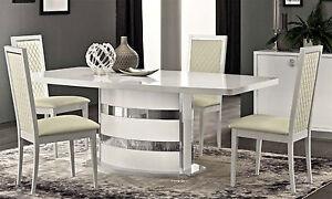 luxus esstisch ausziehbar roma wei modernes design