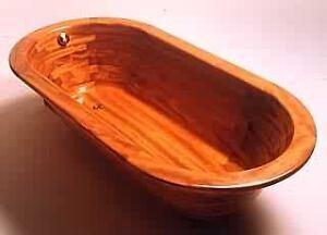 Luxus Holz Badewanne aus Holz Iroko oval freistehend 200 x 100 cm Holzwanne  eBay