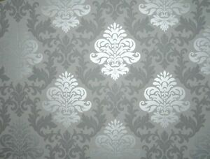 Luxus-Retro-Barock-Tapete-silber-grau-metall