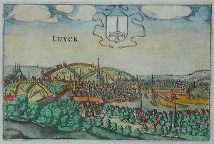 Luyck-Liege-Luettich-Stadtansicht-von-Lodovico-Guicciardini-Original-1613