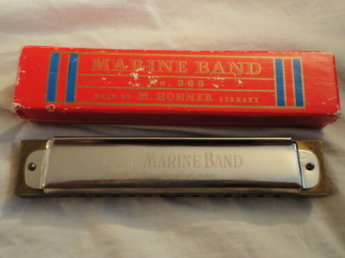 M. Hohner Marine Band No. 365 Vintage Harmonica MADE IN GERMANY Original Box!!! in Musical Instruments & Gear, Harmonica, Vintage (Pre-1980) | eBay
