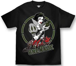 Tattoshirts on Clothing Tattoo Snow White Grenade Street Mafia Black T Tee Shirt L