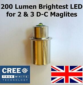 maglite led upgrade cree bulb conversion for 2 3 d c cell. Black Bedroom Furniture Sets. Home Design Ideas