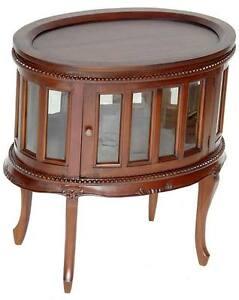 mahagoni teetisch salon vitrinenschrank tisch vitrine mit. Black Bedroom Furniture Sets. Home Design Ideas