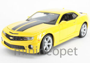 Camaro Yellow on Maisto 2010 10 Chevrolet Camaro Ss Rs 1 24 Bumble Bee Yellow