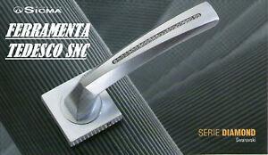 Maniglie porte interne cromo swarovski sicma diamond ebay - Maniglie porte interne cromo satinato ...