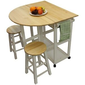 Maribelle folding table and stool set kitchen breakfast for Table 6 kitchen and bar