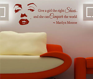 Give A Girl The Right Shoes Marilyn Monroe Wall Art Decal