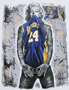 Marilyn monroe t shirt la lakers kobe tattoo graffiti art for La lakers tattoo