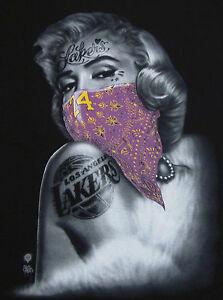 Marilyn monroe t shirt los angeles lakers kobe 24 tattoo for La lakers tattoo
