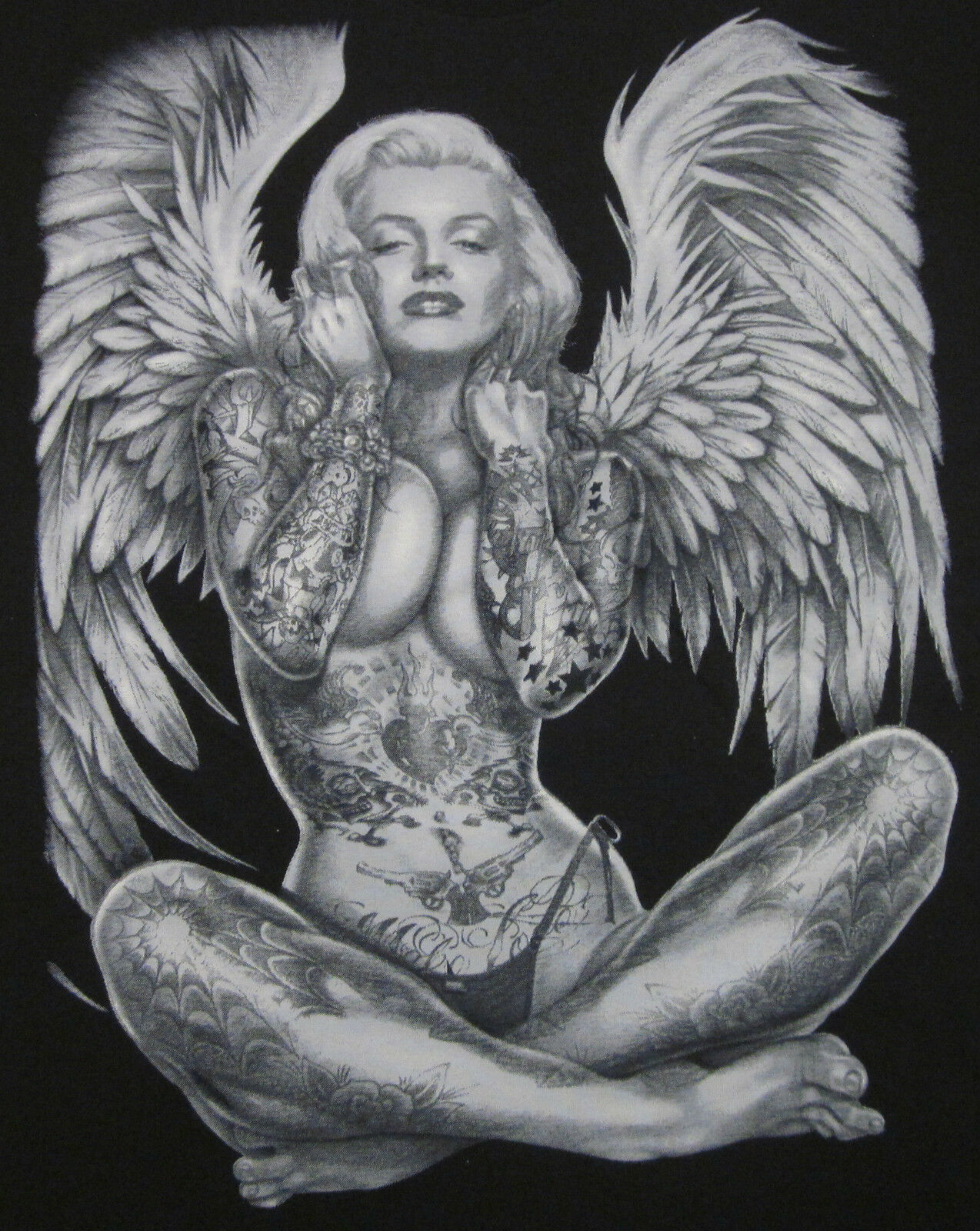 Marilyn Monroe Angel Wings Tattoo Shirts Up To 4XL Made