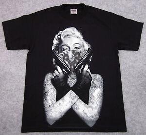 Marilyn Monroe T Shirt Tattoo Bandit Tee Guns Bandana ...