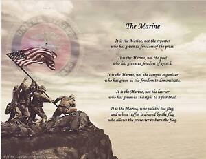 Marine Military Poem Prayer Personalized Name Art Print | eBay