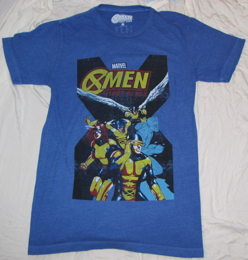 MENS T-SHIRT LARGE X-MEN FIRST CLASS CYCLOPS ICE MAN JEAN GREY NEWX Men Cyclops First Class