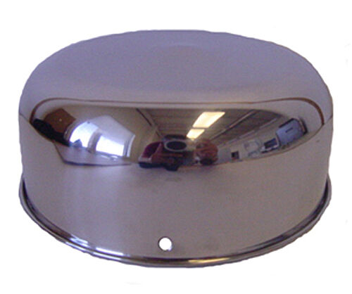 "MARVY  6"" SERIES BARBER POLE STAINLESS STEEL UPPER DOME COVER"