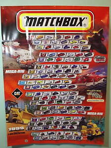 matchbox collectors 1999 wall poster new ebay