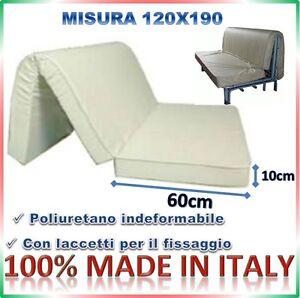 Materasso per divano letto pronto letto 120x190 for Divano 60 x 120