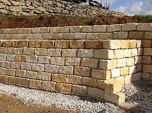 mauersteine 20 20 40 steinmauer sandstein gelb ebay. Black Bedroom Furniture Sets. Home Design Ideas