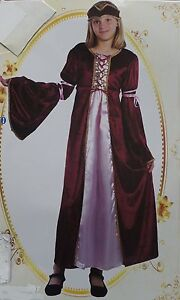 MEDIEVAL-GIRL-COSTUME-CHILDS-TUDOR-FANCY-DRESS-NEW