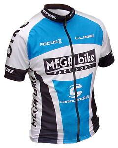 MEGA-bike-Team-Rad-Trikot-kurz-Gr-M-oder-L-oder-XL-blau-NEU