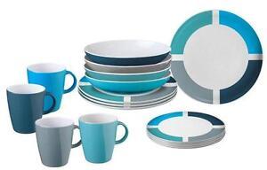 melamin geschirr set brunner camping spectrum blau grau. Black Bedroom Furniture Sets. Home Design Ideas