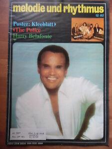 MELODIE-UND-RHYTHMUS-12-1982-Harry-Belafonte-Kleeblatt-Talking-Heads-POLICE