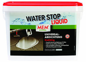 mem water stop liquid 14 kg kartusche wasserstop wandabdichtung ebay. Black Bedroom Furniture Sets. Home Design Ideas