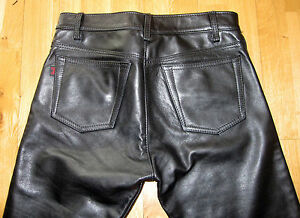 The leather is the finest quality and they fit like a glove. The sizing runs just like a pair of jeans. There is no ugly seam at the knee like most leather biker pants. I have owned several leather pants through the years and these are by far the best overall quality and fit, I .