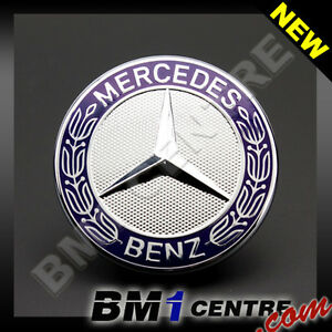 Mercedes benz front flat hood bonnet emblem badge for c for Mercedes benz bonnet badge