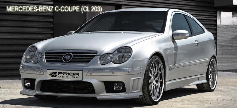 Mercedes c class coupe w203 full body kit c230 280 c320 - Mercedes c class coupe body kit ...