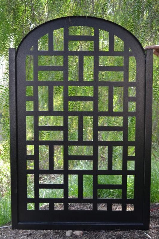 Metal Gate on Sale Contemporary Discount Custom Cut Art Modern Iron Garden