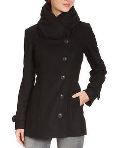 mexx damen kurzmantel jacke mantel schwarz gr 38 m ebay. Black Bedroom Furniture Sets. Home Design Ideas