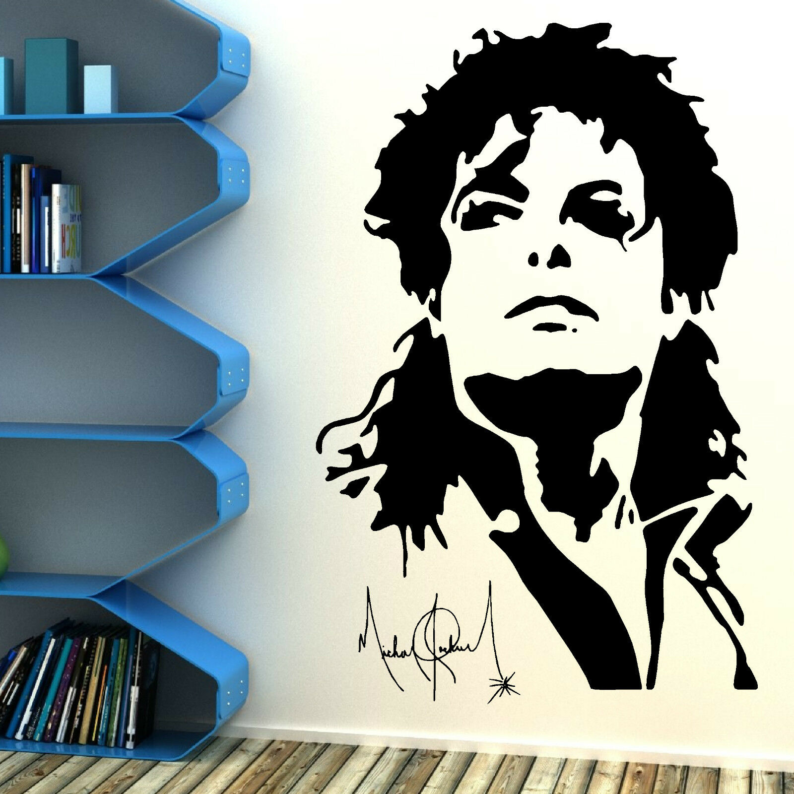 Michael jackson vinyl wall art sticker decal mural music for Stickers pared baratos