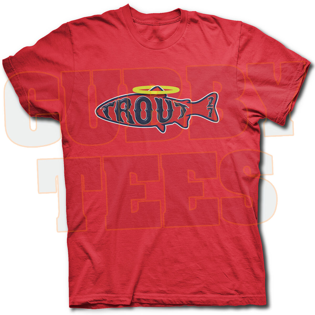 Mike Trout Angelfish T Shirt Los Angeles Angels Rookie Phenom Makes ... 92e8b0ce9