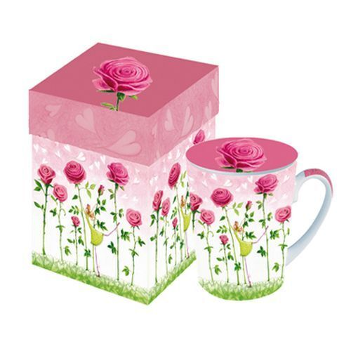 mila marquis ppd tasse becher mug deckel elfe rosegarden. Black Bedroom Furniture Sets. Home Design Ideas