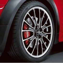 """Mini Cooper JCW 18"""" R113 Bright Tuned Cross Spoke Rim Wheel with Hubcap New"""