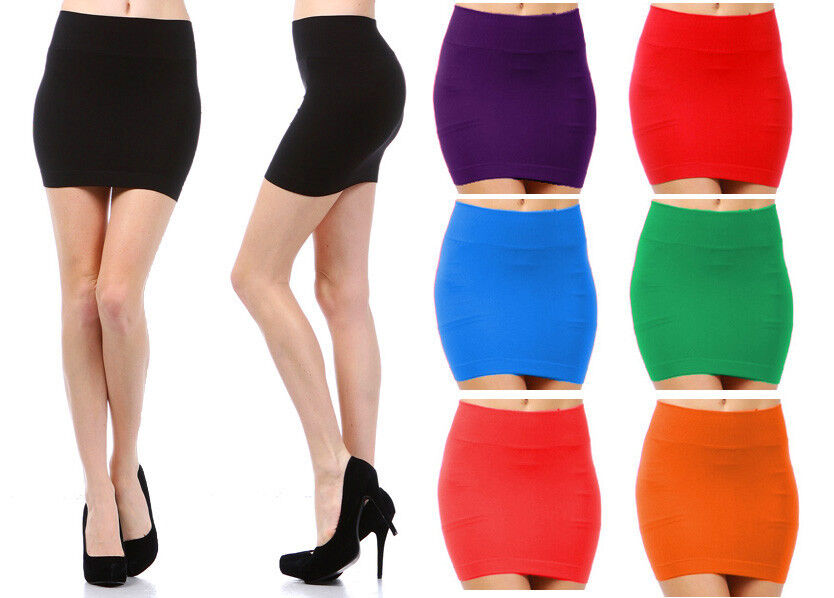 MINI SKIRT Seamless Stretch Tight Short Fitted