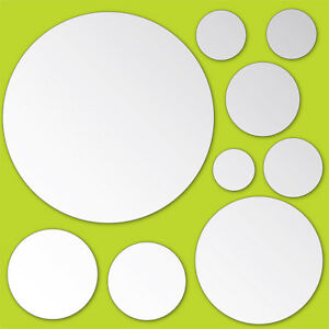 Mirror Art Wall Stickers 9 Circles Room Decor Polka Dot