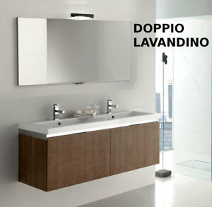 Mobile bagno moderno doppio lavandino vari colori go10b ebay - Doppio lavello bagno ...