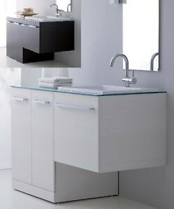 Mobile da bagno 10 colori con coprilavatrice per arredo - Mobile coprilavatrice con lavatoio ...