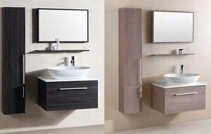 mobili da arredo 80 in 2 colori con specchio e lavabo per bagno