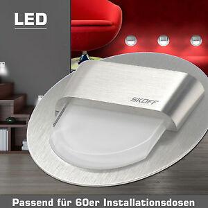 modena led edelstahl 12v wand einbauleuchten stufen treppen beleuchtung lampen ebay. Black Bedroom Furniture Sets. Home Design Ideas