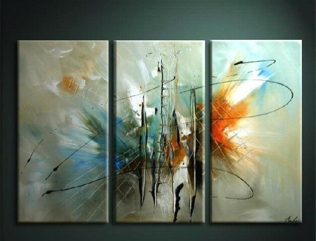 Wall Art Oil Painting : Modern pc abstract huge wall art hand oil painting on