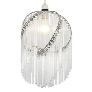 MODERN-CHROME-GLASS-CHANDELIER-CELING-LIGHT-PENDANT