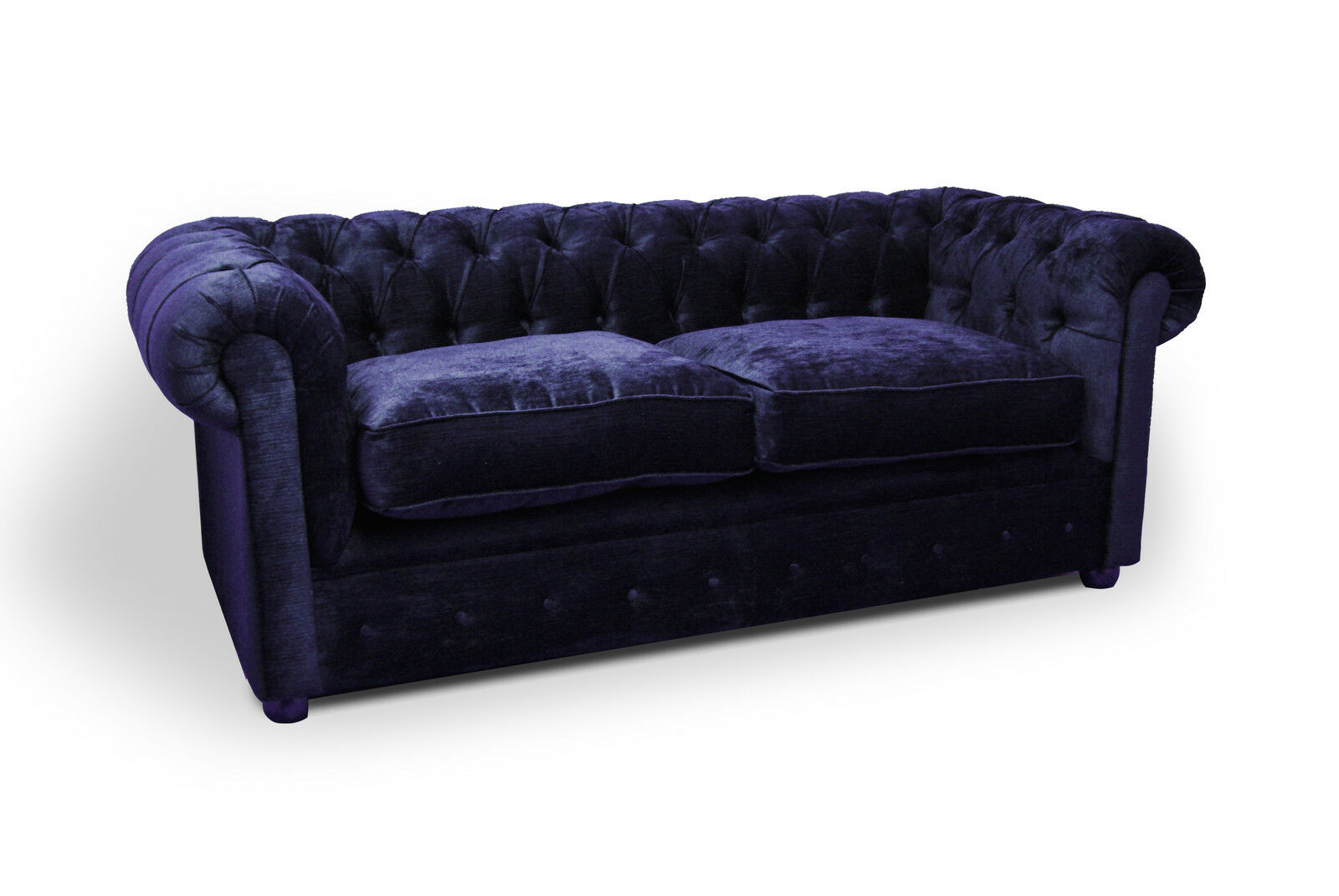 Blue Velvet Chesterfield Sofa Italian Blue Velvet Chesterfield Sofa Any Colour 2 3 4