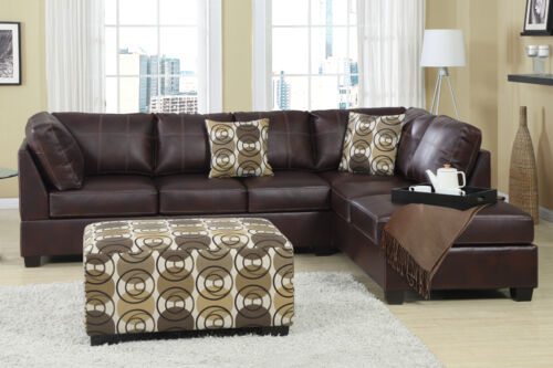 MODERN SECTIONAL SOFA SECTIONAL BONDED LEATHER with LEFT or RIGHT CHAISE F7461 in Home & Garden, Furniture, Sofas, Loveseats & Chaises | eBay