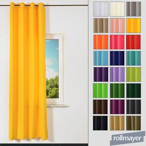 moderner vorhang gardinen mit sen senschal verschiedene farben 140x250 cm ebay. Black Bedroom Furniture Sets. Home Design Ideas